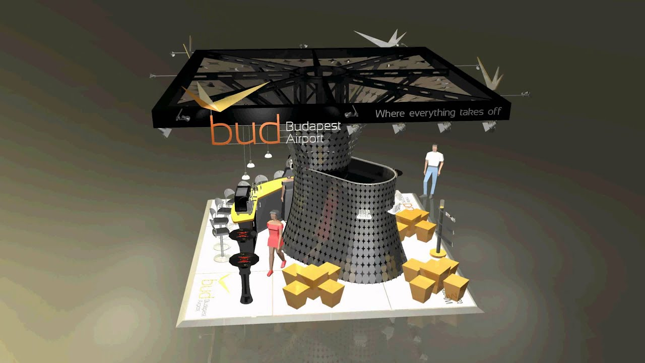 Exhibition Stand Europe : Budapest airport exhibition stand routes europe design 1 by