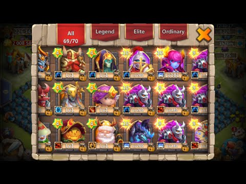 Full Hero Altar 12 10/10 HEROES INSANE Beast Account Castle Clash
