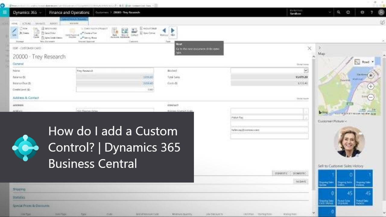 How do I add a Custom Control? | Dynamics 365 Business Central