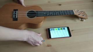 настройка укулеле при помощи приложения на телефоне