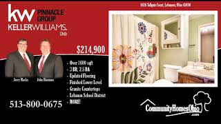 3 Bed 2.5 Bath Home for Sale in Garfield Park  1626 Tollgate Ct, Lebanon, OH 45036
