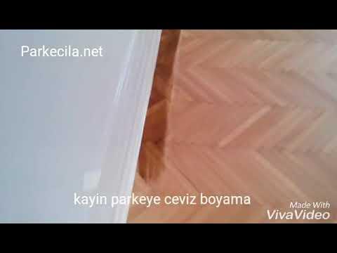 Ceviz Rengi Boyama Kayin Parke üzerine Youtube