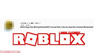 Dumb Kid Try to steal My Channel ( ROBLOX )