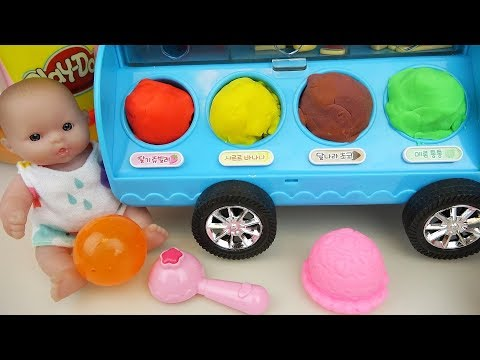 Thumbnail: Baby Doli and play doh Ice cream car toys baby doll play