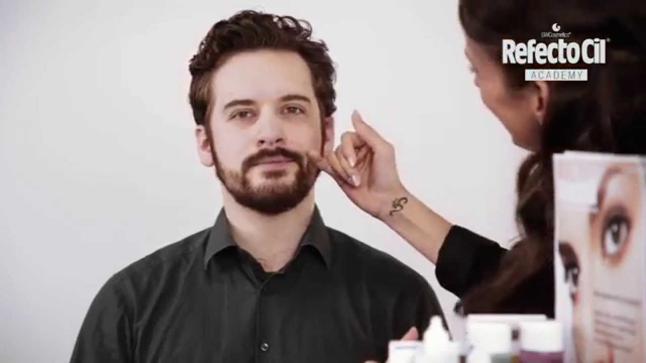 Beard Tinting With Refectocil Light Brown Youtube
