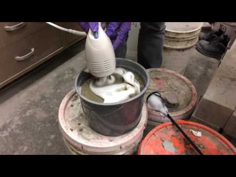 Foam concrete preparation