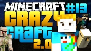 Minecraft: CRAZY CRAFT 2.0 - #13 | MOBZILLA TROLL?