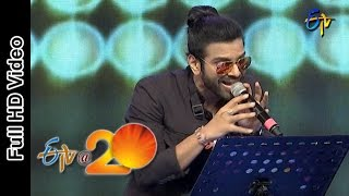 Sreeram Chandra Performance - Come to the Party Song in Bheemavaram ETV @ 20 Celebrations