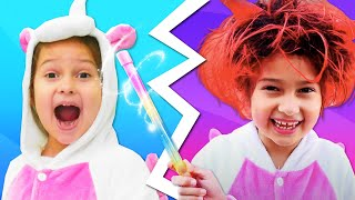 Смешные видео онлайн – Милая Единорожка стала Халком? – Весёлые игры одевалки для девочек.