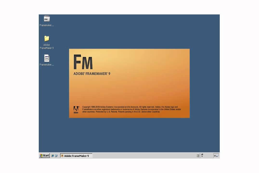 Descarga Adobe Framemaker 9
