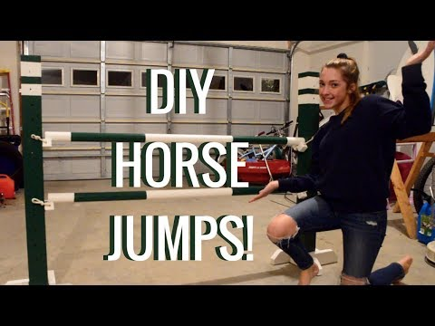 How to make horse jumps! DIY standards, poles, and cups | HU