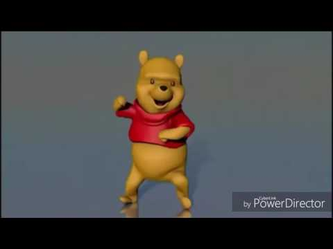 Winnie the pooh dancing to the ni hao kai lan theme song
