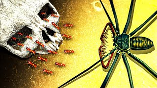 SKULL ARMY ANTS vs Biggest Spider in the World in Empires of the Undergrowth!