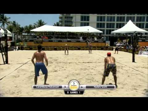 2012 JCPBVS Florida Open Semi-Final Adrian Carambula / Braidy Halverson vs John Hyden / Sean Scott