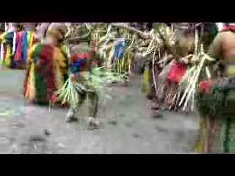 CULTURE: Yap stick dance (#2) in traditional Village