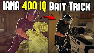400 IQ Iana Bait Trick | How Pro Players Pixel Spawn Peek - Rainbow Six Siege