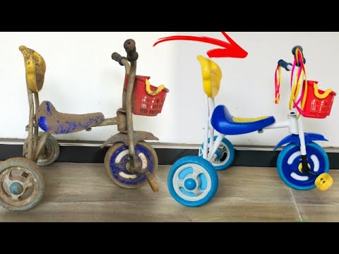 Old Kids Bicycle Restoration   Tricycle Restoration thumbnail