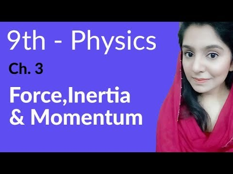 Force, Inertia and Momentum - Physics Chapter 3 Dynamics - 9th Class