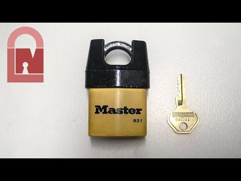 Взлом отмычками Masterlock 931  (278) Master Lock 931 Shrouded Shackle Padlock Pick and Gut