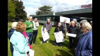 Campaigners protest Wem homes decision at council offices