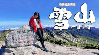 一日雪山主東峰|登上台灣第二高峰 無論幾天的行程務必擬好計畫再上山,安全是幸福的基石 feat.元元 馮韋元