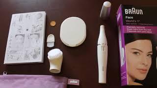 видео Прибор для эпиляции Braun Face 2-в-1