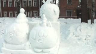 Под снегопадом.    Снеговик 16 г  Каргополь