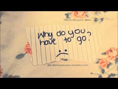 Warum bin ich dann so traurig ohne dich?