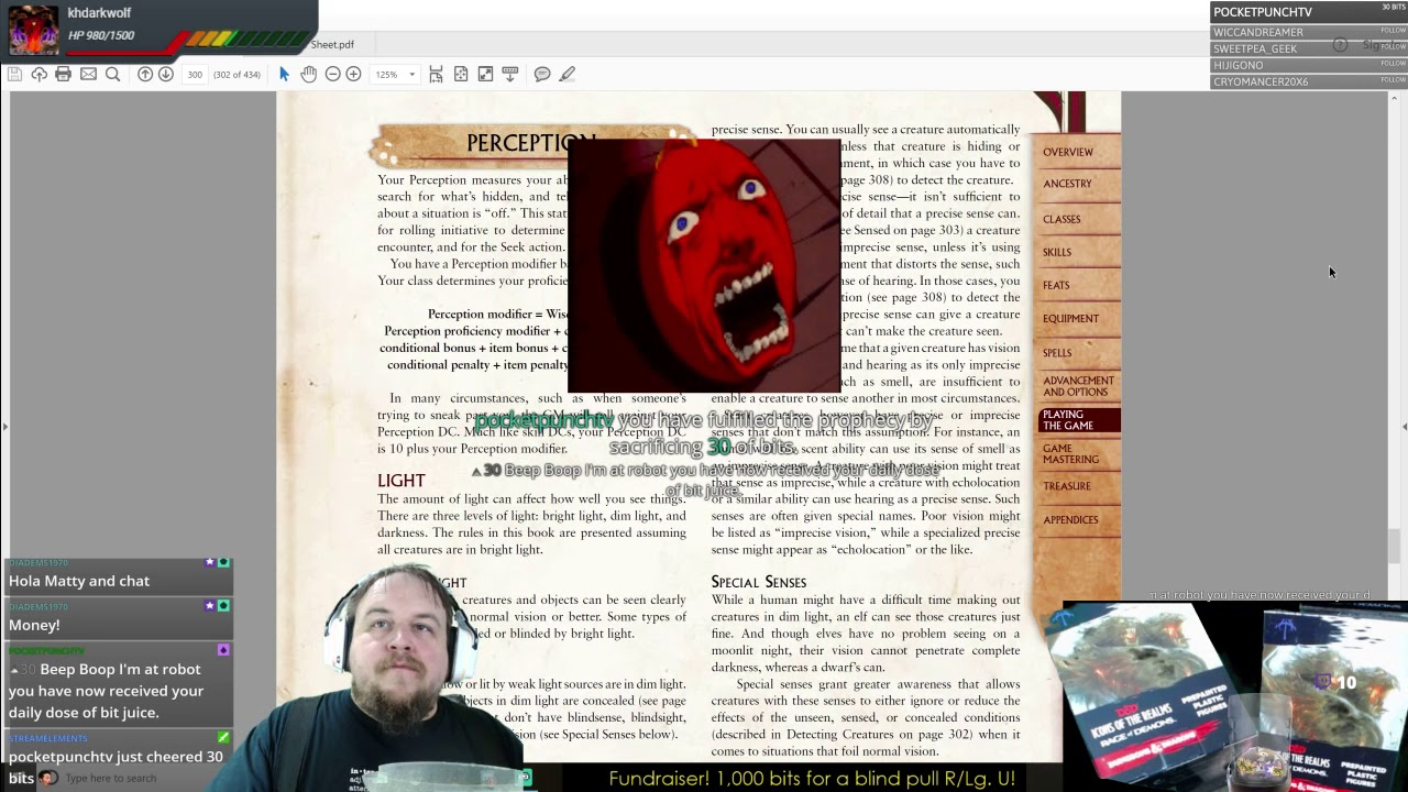 Pathfinder 2e Playtest Review Part 8: Playing the Game - Initiative,  Perception, Cover, Combat