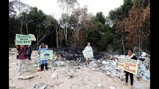 Sole surviving mangrove forest on government land in Batu Maung turned into dump site