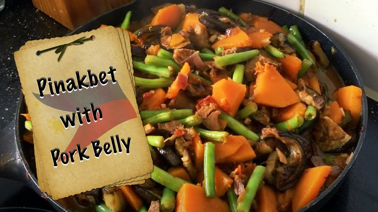 Pinakbet With Pork Belly And Bagoong Youtube