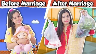 Girls Before Marriage Vs After Marriage | Sanjhalika Vlog