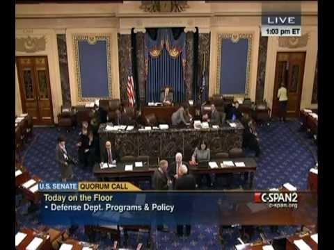 Senate 2011-11-28- S.1867 (National Defense Authorization Act) Part 01