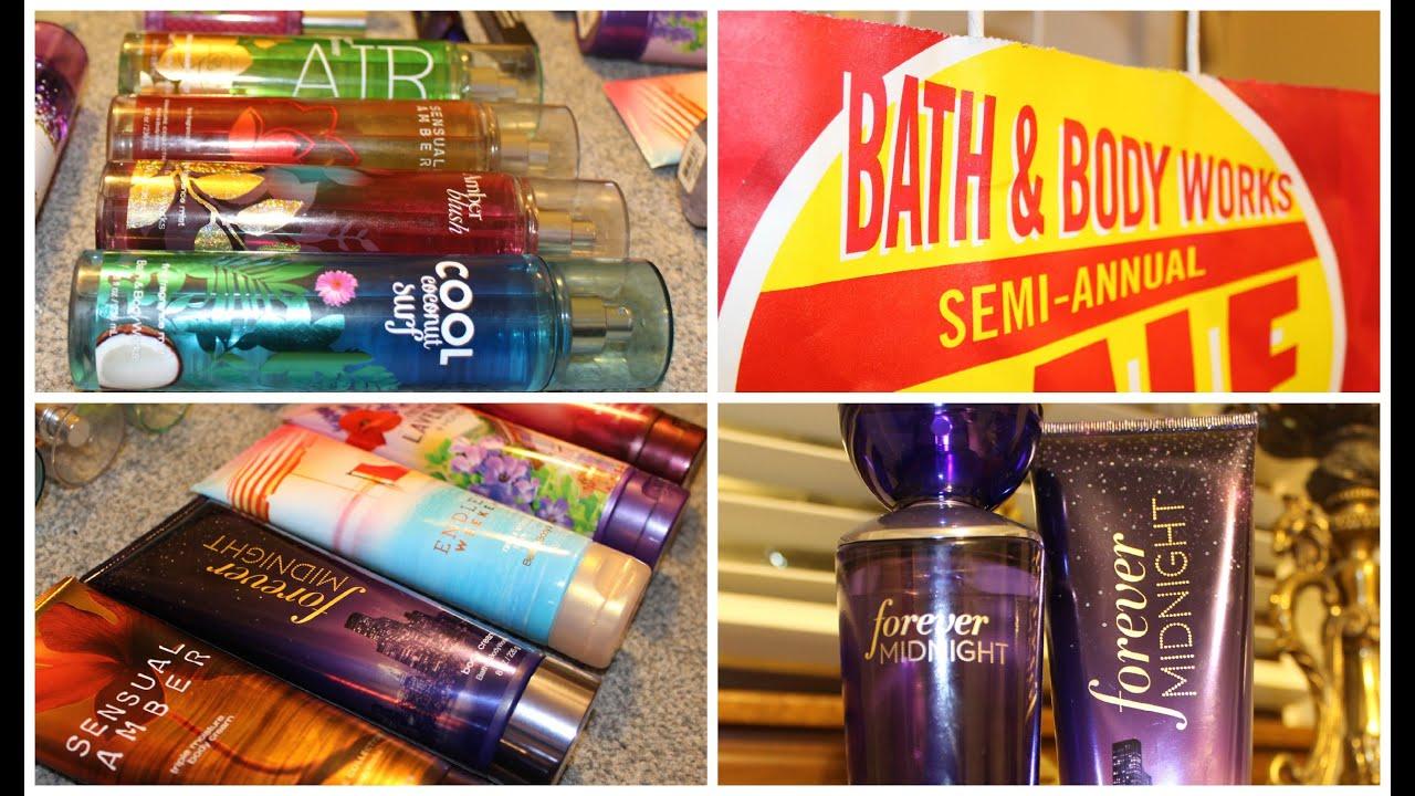 Bath And Body Works Haul 2015 Semi Annual Sale Youtube