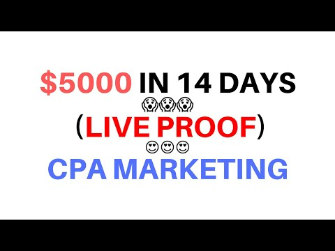 My Student Earned $5000 in 14 days by Doing CPA Marketing thumbnail