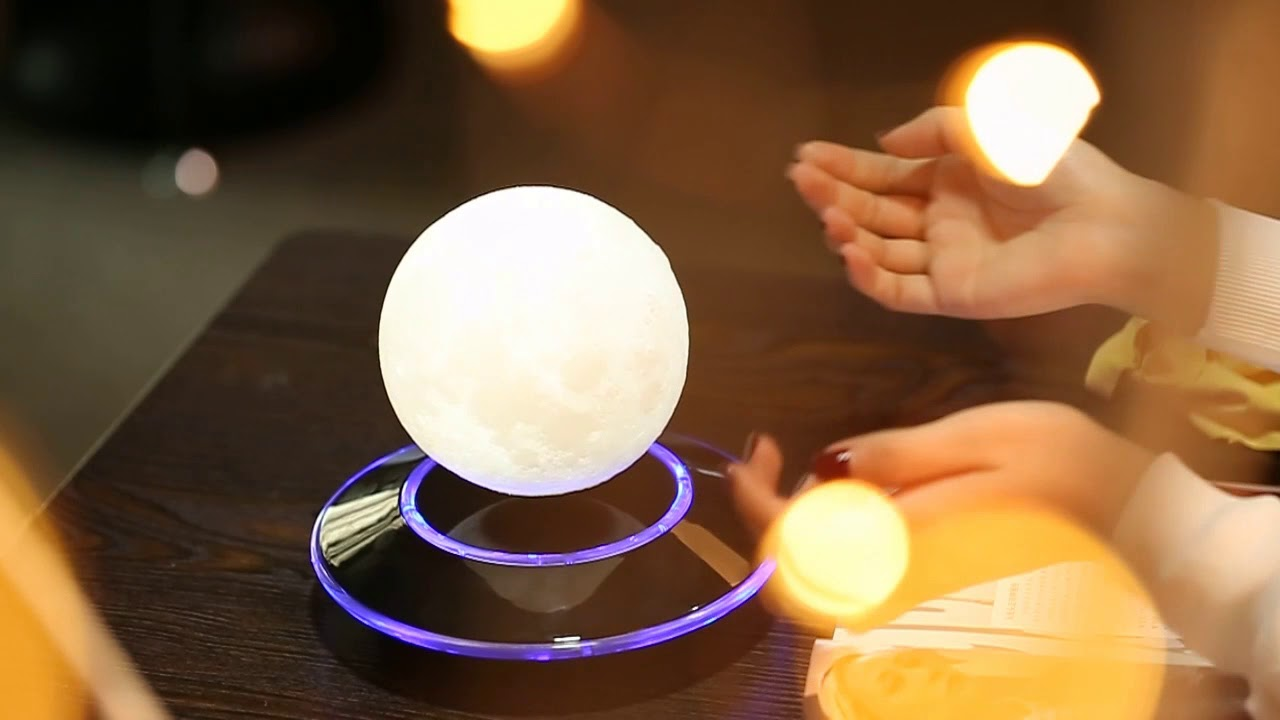 Magnetic levitation 3d moon lamp home decorative moon light 12cm magnetic levitation 3d moon lamp home decorative moon light 12cm floating lamp arubaitofo Gallery