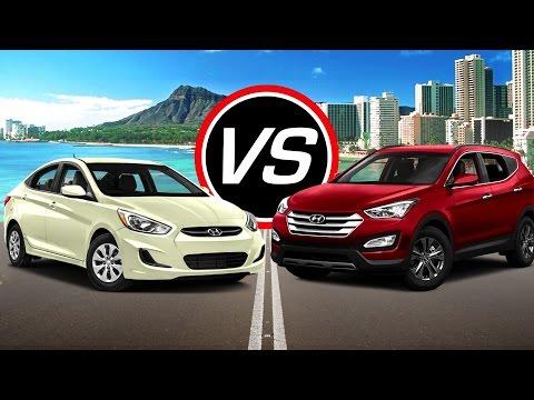 2016 Hyundai Accent SE vs Santa Fe Sport Turbo - Spec Comparison!