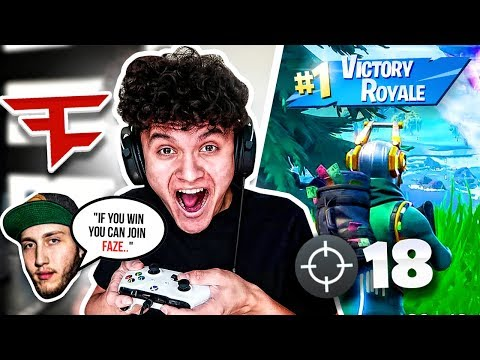 IF YOU WIN, YOU JOIN FAZE CLAN!! (Best Console Player On Fortnite)