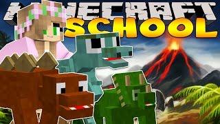 Minecraft School : DINOSAUR RUN!