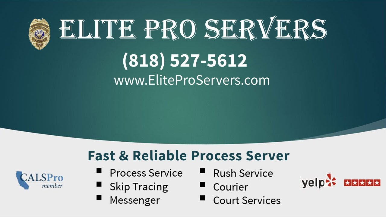 Fast Process Server in Los Angeles   Elite Pro Servers (818