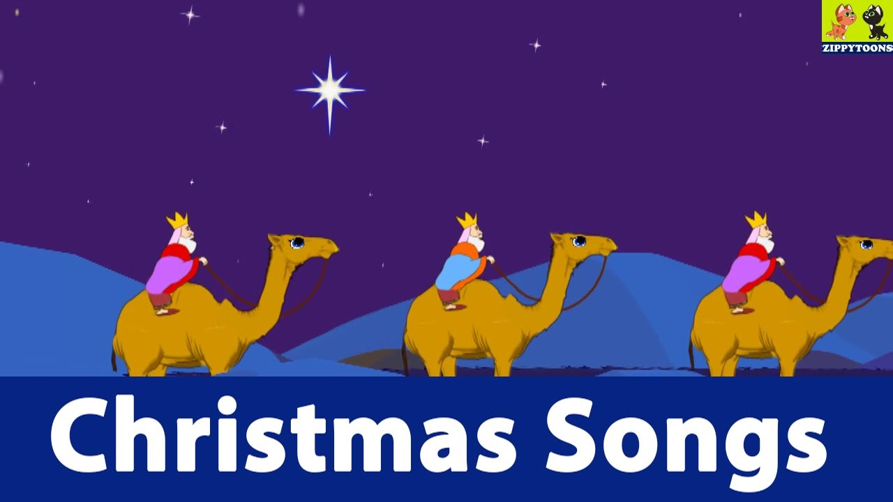 Nursery Rhymes | We Three Kings | Animated Christmas Songs With Lyrics ...