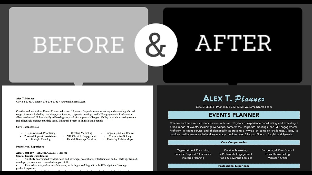 Wow! 3-Minute Resume Design Makeover ☆ Using Microsoft Word - YouTube