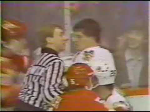Brutal Knockout: Bob Probert KO's Gary Nylund, 1987/1/11