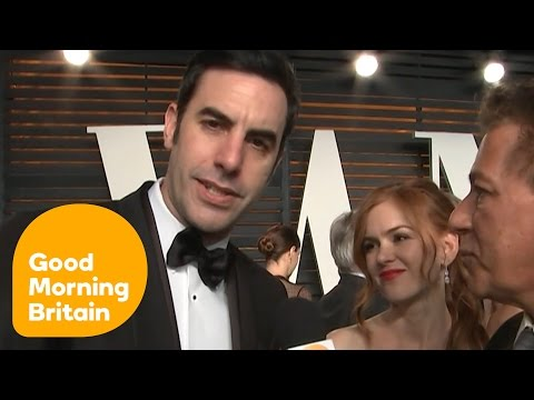 Sacha Baron Cohen And Isla Fisher On The Red Carpet At The Oscars | Good Morning Britain