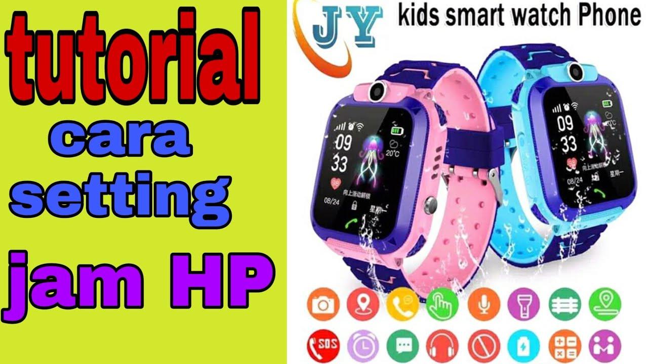 cara setting jam tangan hp tutorial