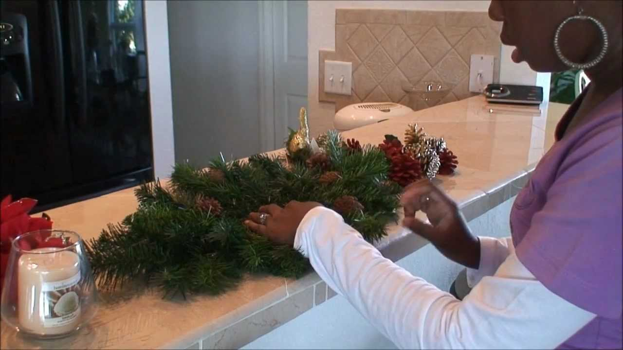 How to make your own Christmas centerpiece - YouTube
