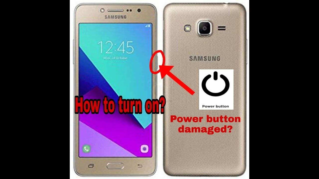 how to turn on samsung phone without power button(Tagalog) - YouTube