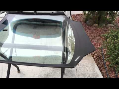 2011 Honda Civic Alfredo's Auto Glass Fixing A windshield previously replaced by unprofessionals