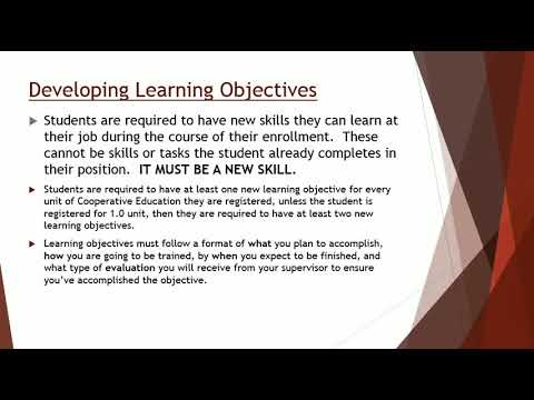 Cooperative Education Orientation Presentation
