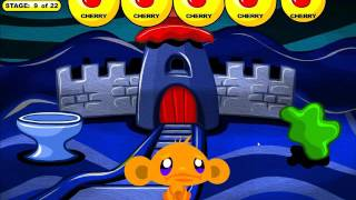 Monkey GO Happy: Bats -- Stage 9 Walkthrough